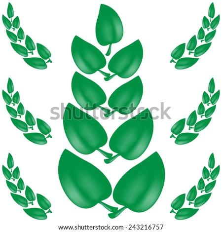 green leaves background summer season - stock vector