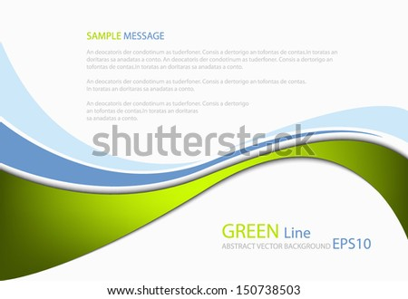 Green line background modern graphic for texture and pattern design. message board for text and message design - stock vector