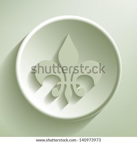 Green line circle icon, vector eps10 illustration - stock vector