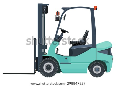 Green loader on a white background - stock vector