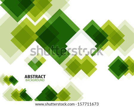 Green modern geometrical abstract background - stock vector