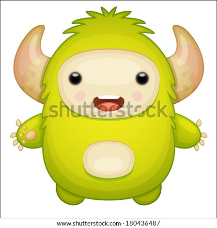 Green Monster - stock vector