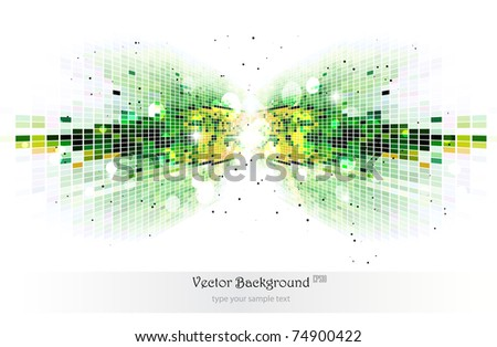 Green mosaic background.Vector illustration. - stock vector