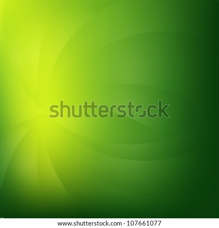 Green Nature Background With Line, Vector Illustration - stock vector