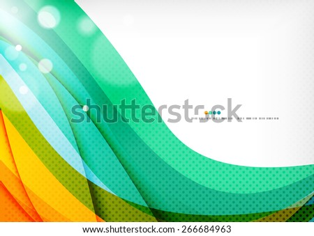 Green orange yellow colors shiny line concept. Graphic message board - stock vector