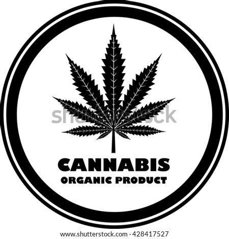 Green organic cannabis, marijuana.Vector - stock vector