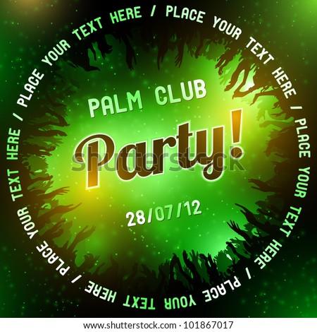 Green Party flyer vector template - stock vector