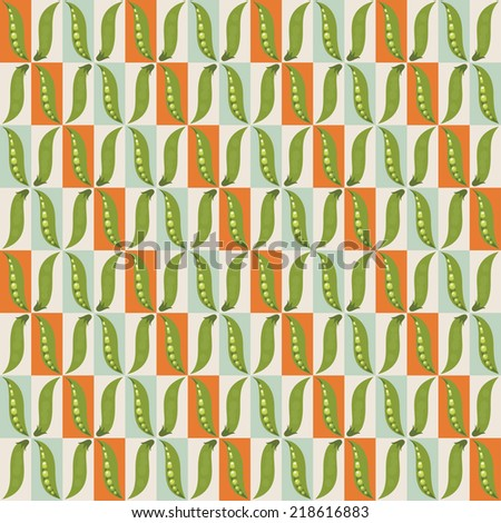 Green peas abstract seamless pattern. - stock vector