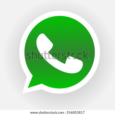 Green phone handset in speech bubble vector icon isolated.Vector illustration EPS10 - stock vector