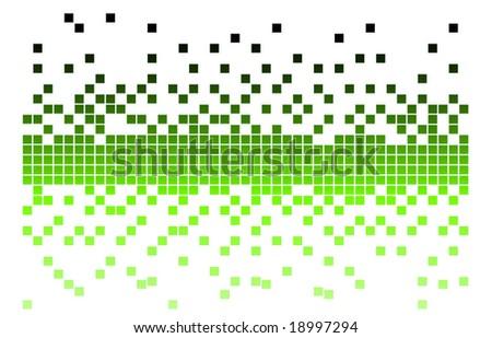 green pixel - stock vector