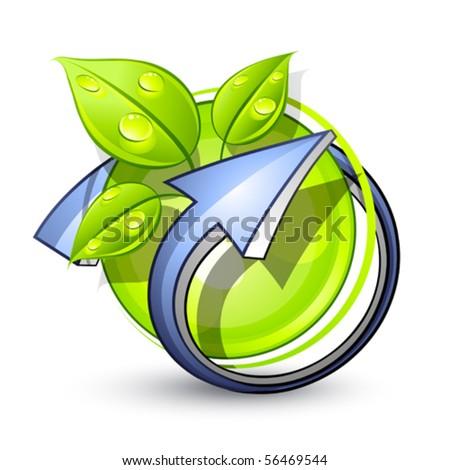 Green planet. Business logo - stock vector