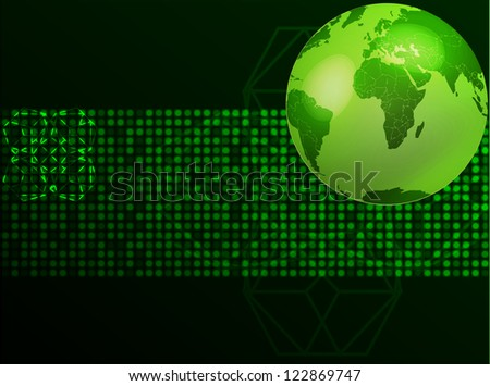green planet  Vector illustration. - stock vector