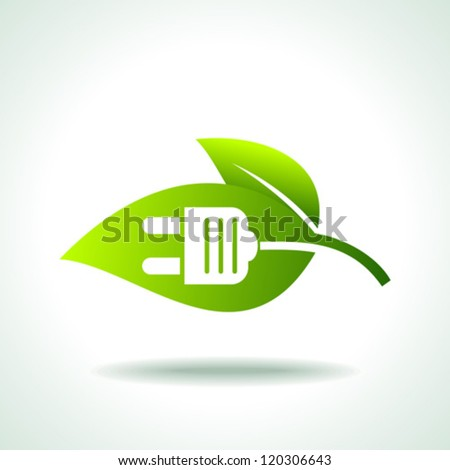 Green power - stock vector