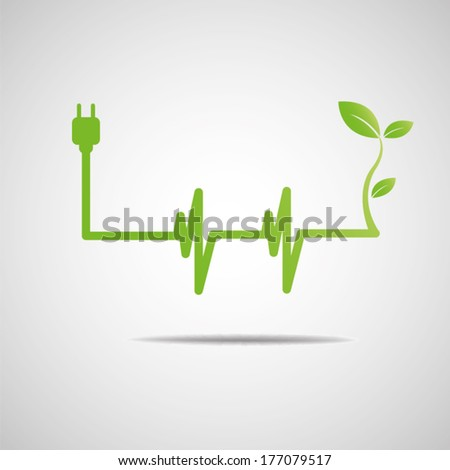green power eco - stock vector