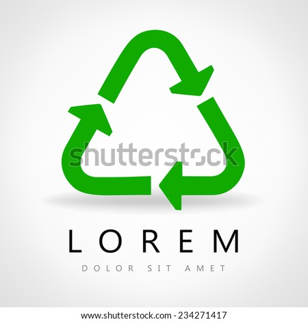 Green recycle symbol - stock vector