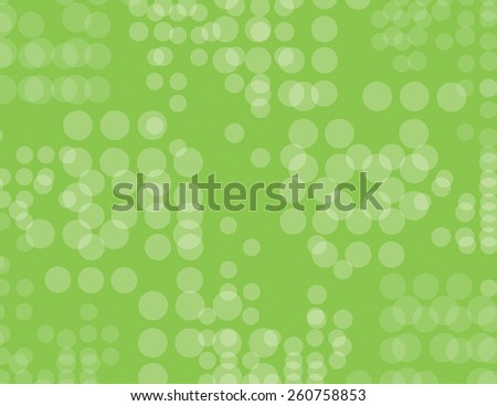 Green repeating circles over green background - stock vector