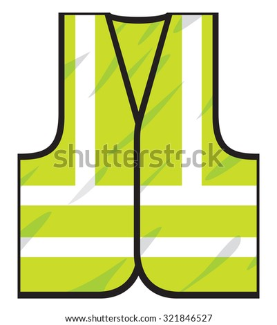 green safety vest - stock vector
