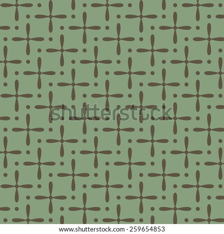 Green seamless vector pattern - stock vector