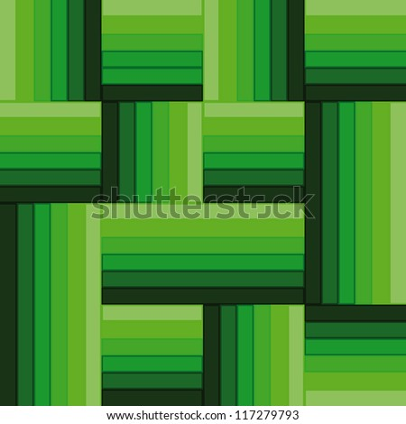 green simple square abstract pattern vector - stock vector