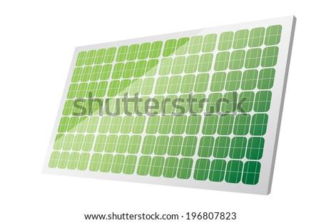 green Solar panels - stock vector