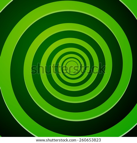 Green Spiral Background - stock vector