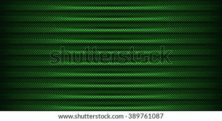 Green striped background. - stock vector