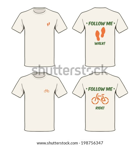 Green suggestion T-shirt.  - stock vector