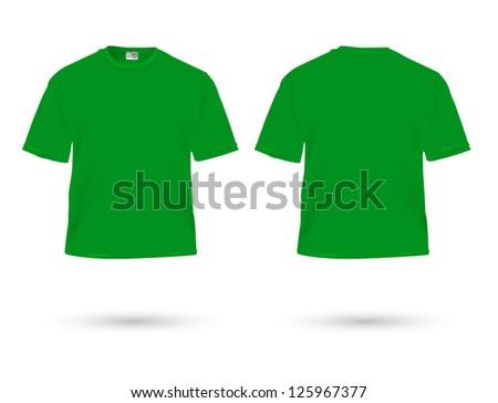 green t-shirt illustration on white. - stock vector