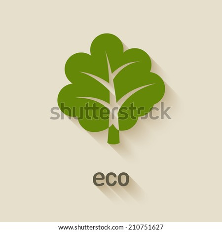 green tree eco symbol - vector illustration. eps 10 - stock vector