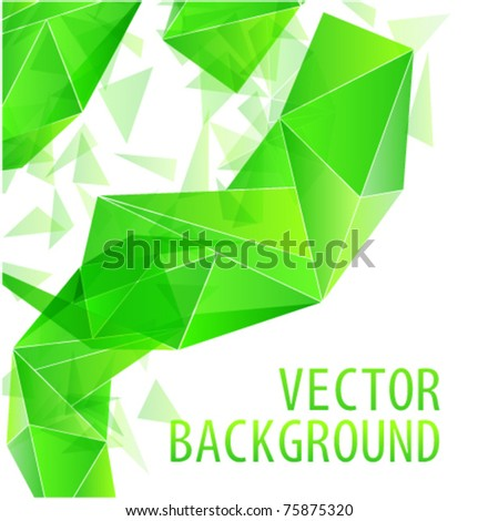 Green triangle abstract vector background - stock vector