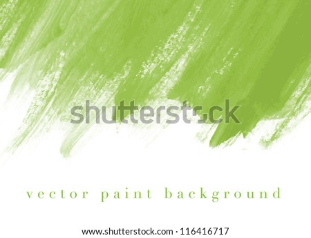 Green vector abstract hand painted watercolor daub background - stock vector