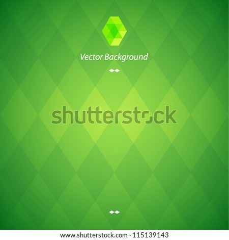 Green vector background - stock vector