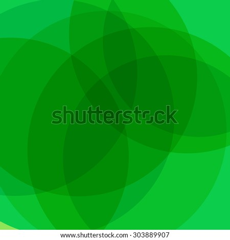 green vector background with curves - stock vector