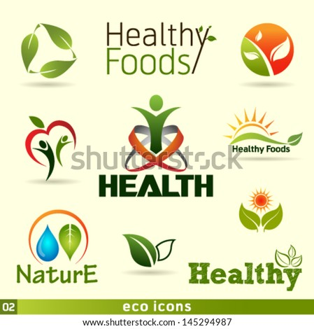 Green Vector Icons Set. Graphic Design Editable For Your Design. - stock vector