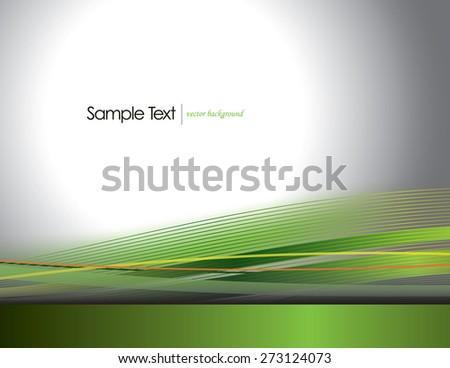 Green Vector Wavy Background. - stock vector