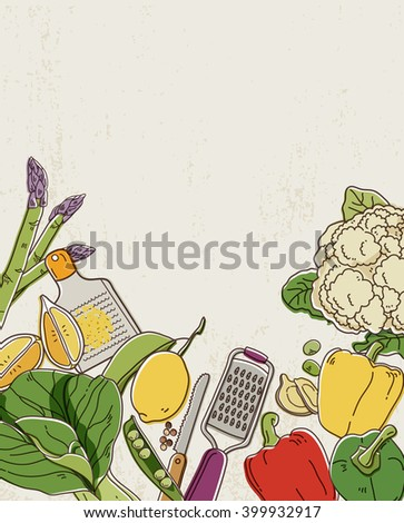 Green Vegetables - stock vector
