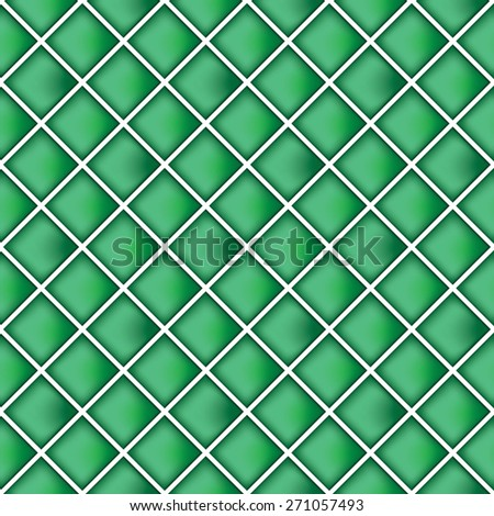 Green wall tiles background - stock vector