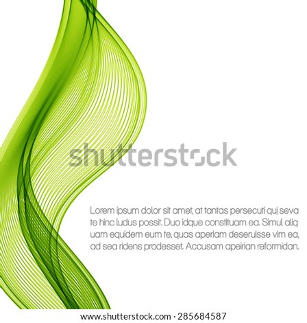 Green waves - stock vector