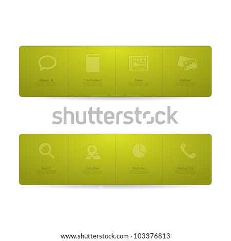 Green Web design Menu template - stock vector