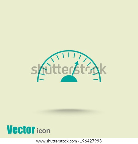 green web  icon with shadow - stock vector