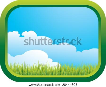 green window - stock vector