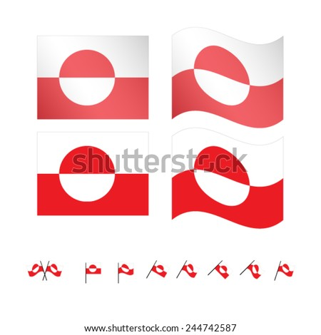 Greenland Flags EPS 10 - stock vector