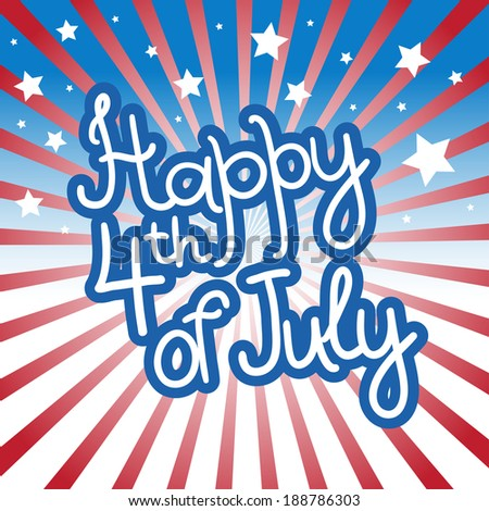 Greeting card for 4th of July, Independence Day of the United States. - stock vector