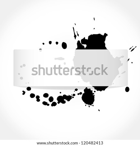 Greeting card in grunge style - stock vector