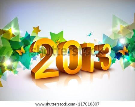 Greeting card or gift card for Happy New Year celebration. EPS 10. - stock vector