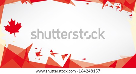 Greeting card origami of Canada. A greeting card with the theme of flag of Canada - stock vector