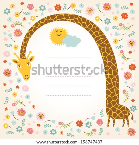 Greeting card, place for your text  - stock vector