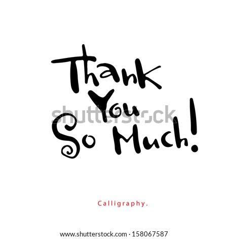 Greeting Card. Thank you so much! - stock vector