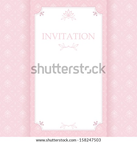 Greeting card with place for your text. Vector. - stock vector