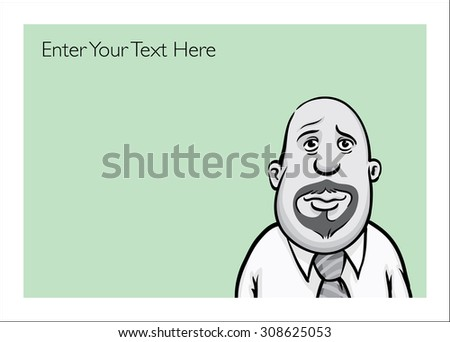 Greeting card with sad businessman - personalize your cardâ?? with a custom text - stock vector
